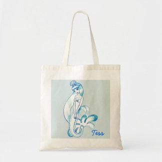 Blue Mermaid Budget Tote Bag