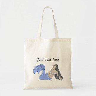 Blue Mermaid Tote Bag