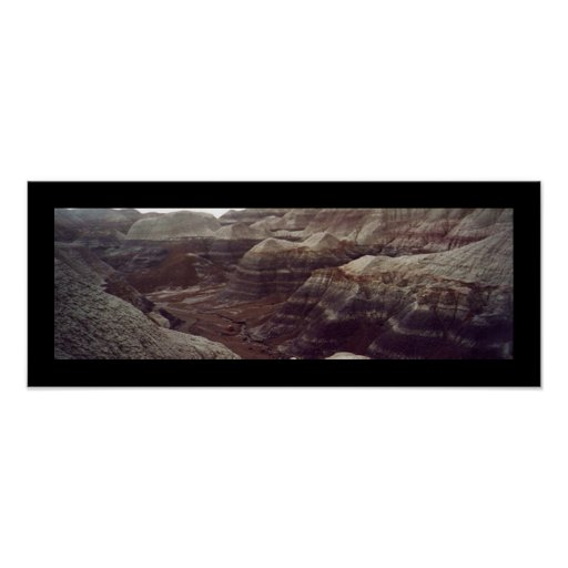 Blue Mesa Trail, Petrified Forest Poster