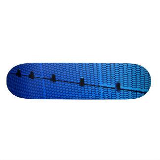 Blue Mesh Custom Skateboard