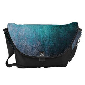 Blue Messenger Bag Abstract Grunge Vintage Retro
