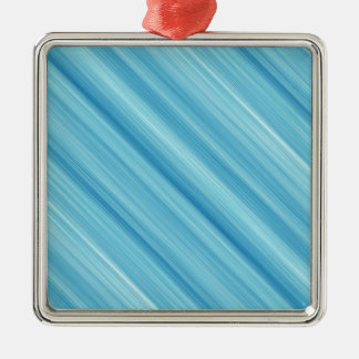 Blue metal background Silver-Colored square decoration