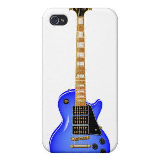 Blue Metal Electric Guitar iPhone 4/4S Cover