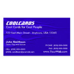 Blue Metal Flake (simulated) Flames Business Card