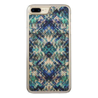 Blue Metal Tight Weave Carved iPhone 8 Plus/7 Plus Case