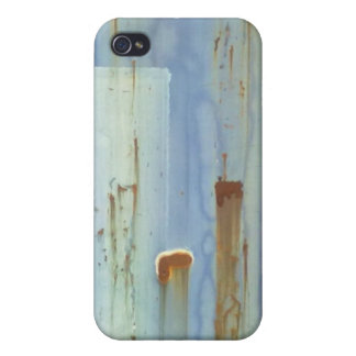 Blue Metal Wall iPhone 4/4S Cover
