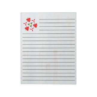 Blue metall Wall Notepad