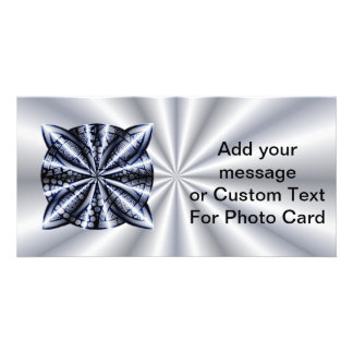 Blue Metallic Celtic Knot Original Art Personalized Photo Card