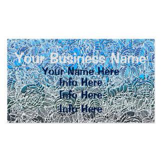 Blue Metallic Fluorescent Flowers Pack Of Standard Business Cards