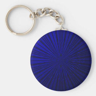 Blue metallic Illusion Basic Round Button Key Ring