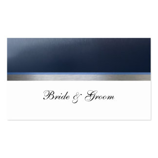 Blue Metallic Place Cards Double-Sided Standard Business Cards (Pack Of 100)