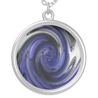 Blue Metallic Vortex Necklace
