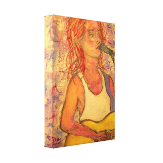 blue microphone songstress gallery wrap canvas