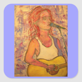 blue microphone songstress square stickers