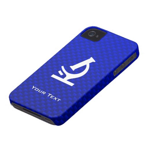 Blue Microscope iPhone 4 Cover