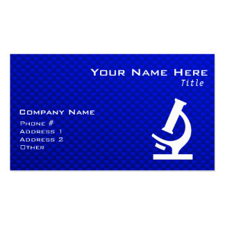 Blue Microscope Pack Of Standard Business Cards