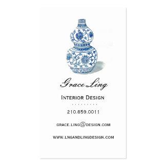 Blue Ming Vase Interior Designer Business Card
