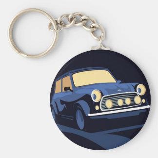 Blue Mini Basic Round Button Key Ring