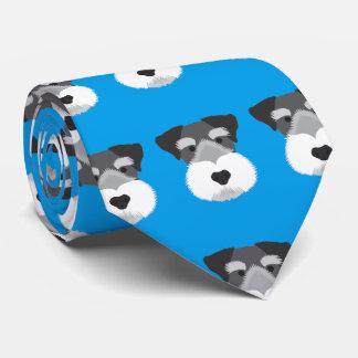 Blue Miniature Schnauzer Tie