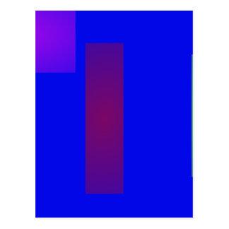 Blue Minimal Art Postcard