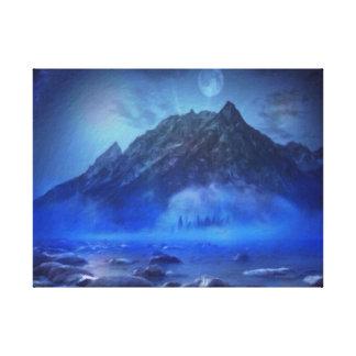 Blue Mist Rising by M.A Canvas Print