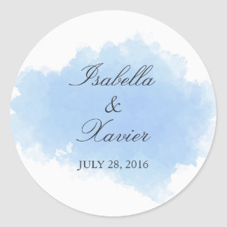 Blue Mist | Wedding Favor Sticker