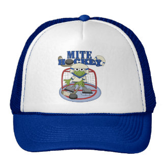 Blue Mite Hockey Goalie T-shirts and Gifts Cap