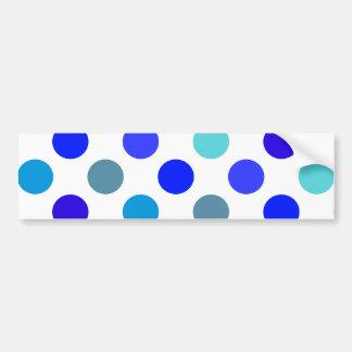 Blue Mixed Polka Dots Bumper Sticker