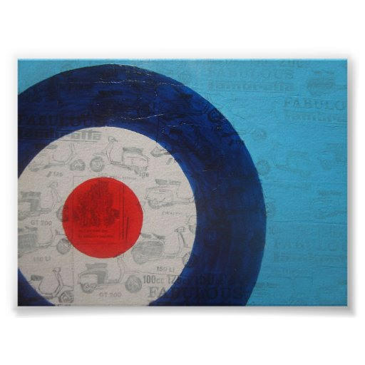 Blue mod target posters