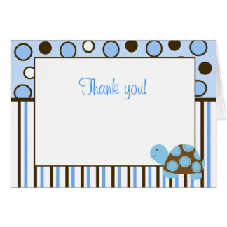Blue Mod Turtle Trendy Blue dot Note Cards