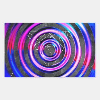 Blue,modern,abstract,cyber,circle,trendy,universe, Rectangular Sticker