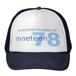 Blue modern classic age / birth year hat