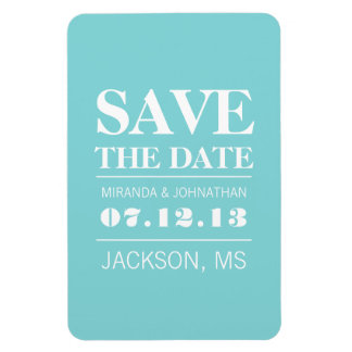 Blue Modern Elegance Save The Date Magnet