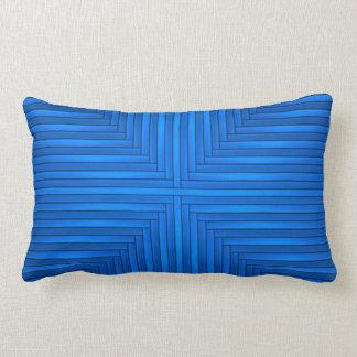 Blue Modern Elegant Stylish Poly Lumbar Pillow