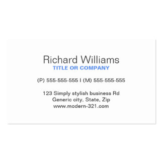 Blue modern generic simple elegant personal pack of standard business cards