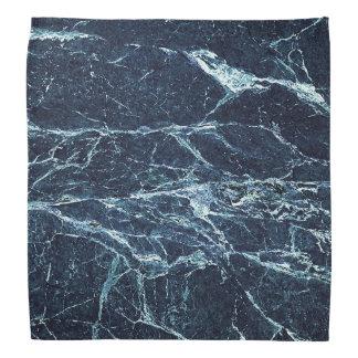 Blue modern marble pattern bandana