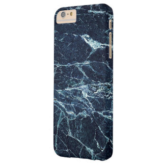 Blue modern marble pattern barely there iPhone 6 plus case