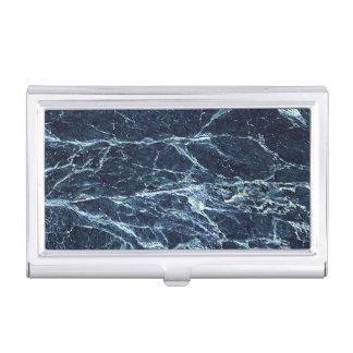 Blue modern marble pattern business card holder