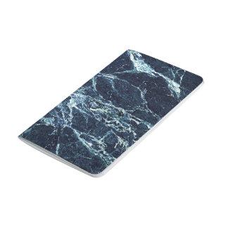 Blue modern marble pattern journal