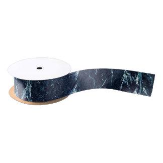 Blue modern marble pattern satin ribbon