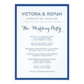 Blue Modern Minimalist Wedding Programs 13 Cm X 18 Cm Invitation Card