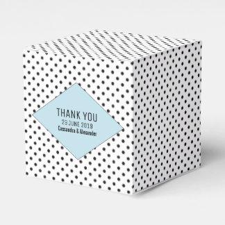 Blue Modern Polka Dots Wedding Favour Box