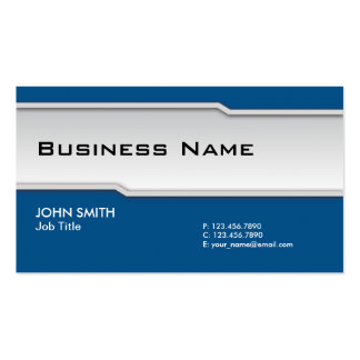 Blue Modern Professional Elegant Classy Pack Of Standard Business Cards