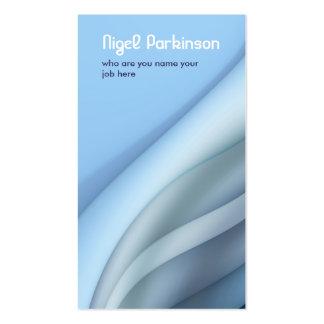 blue modern wavy business card