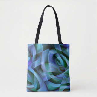 Blue Moment in Time Tote Bag