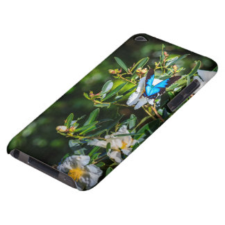 Blue Monarch Butterfly on Flowers iPod Touch Case-Mate Case