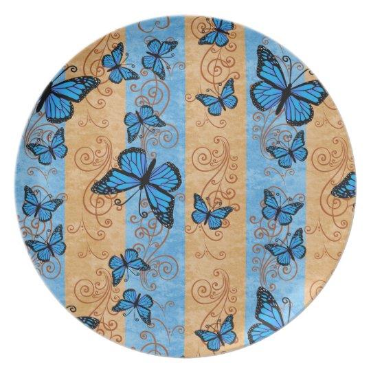 Blue Monarch Butterfly Plate