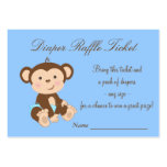Blue Monkey Diaper Raffle Tickets Pack Of Chubby Business Cards