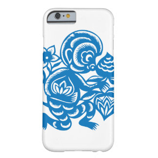 Blue Monkey Paper Cutting Barely There iPhone 6 Case