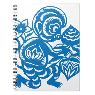 Blue Monkey Paper Cutting Notebooks